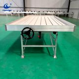 Greenhouse metal rolling bench for greenhouse plants growing