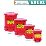 KOUDX Oily waste can red