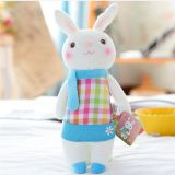 The new big ears cute little white rabbit stuffed toy to draw a kind of professional custom production processing