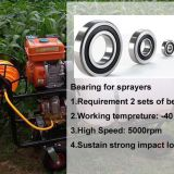 Deep groove ball Bearings for sprayers 6205 2RS C0 P5 HG03(-40~180℃)