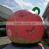 Customized new products inflatable pumpkin inflatable cartoon pumpkin with butterfly printing