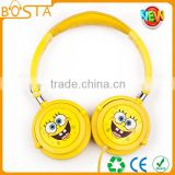 Promotional stereo bulk sales funny cute cool fashion sponge headphone for kids