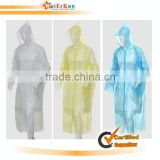 2015 hooded waterproof raincoat