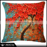 Wholesale Hot Sell High Quality Flax Pillow Cushion Cover