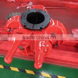 API 8C oil drilling Center latch elevator 318ton for pipe Dia 89 to168mm handling tools (DDZ-350TD)