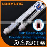 T10 double-side cover ce/rohs/Lvd/Emc high lumen designer led T8 22w t8 fast black light t8 tube 24w