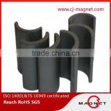 high quality arc magnet ferrite magnet Y30BH for starter motor, fuel pump motor, seat motor