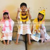 Boy Girl Hooded Kids Cartoon Bath Towel Character Children Bath Robe/Blanket