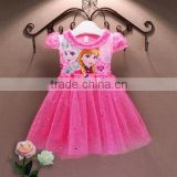 2016 hot selling latest western kids girl party wear dresses&dress for girls