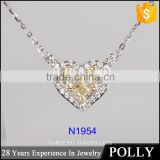 Guangzhou Panyu Fashion 925 Pure Silver Chain Pendant Necklace