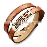 brown real leather belt bracelet jewellery