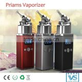 Aluminum herbal vaporizer with OLED display , Priams ceramic vaporizer, factory supply directly