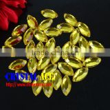 Factory Wholesale Price Citrine Color Flat Back Acrylic Fancy Rhinestone For Garment, Bag...