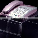 Clear Acrylic Telephone Display Holder,Stand,Rack,Platform with two pocket