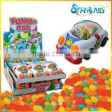 Funny car toy with candy