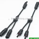 IP67 mc4 solar panel and PV cable connecto,MC4 Y branch solar pv connector