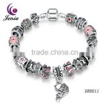 Jenia Latest Design Hot Sale Eco-friendly Copper High Quality Craft string breads Women bracelet