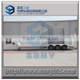 17 meters 3 axle heavy duty 50 ton, 60 ton, 70 ton, 80 ton low bed trailer with spring ramp & hydraulic ramp