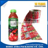 Beverage Bottle PVC Shrink Film Sleeve Label Roll/PET shrink bottle label film
