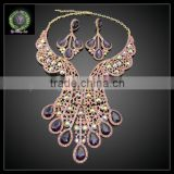 2016 New Arrival handmade crystal Jewelry set which for Wedding jewelry set Match Clothes KHK858