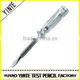 China Manufacture Ordinary test pen /screwdriver with AS material and long-life neon light