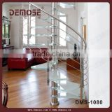 residential glass steel spiral stairs for villa