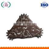 PET Coated Paper SGS FSC Baking cups High Temperature Resistant Triangle Shape cupcake liners