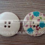 30mm big colour drawing 4 holes wood buttons