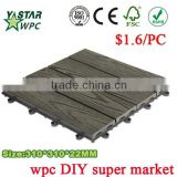 UV Resistant Cheap Garden Deck Tile With Solar Lights -20 Years Warranty FSC SGS CE Certification