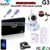 2015 Newest packaging wireless smart gsm safe home alarm with good price smart alarm systems G3 for personal alarms