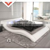 New design B815b LED headboard faux leather bed frame
