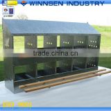 Hot Sale Galvanized Steel Poultry farm Chicken House 10 Hole Egg Laying Nest YS53056