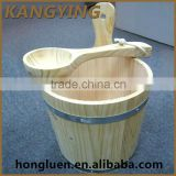 Factory supply Hot Sale Mini Wood Barrel Sauna With Scoop
