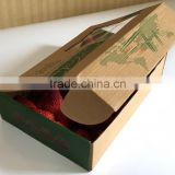Hot factory large quantity sale recycle feature small brown kraft paper mailer box for strawberry packaging