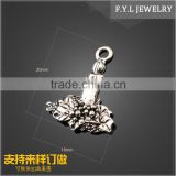 SH1703-1468 DIY hair accessories manufacturers selling candle candle burning model alloy jewelry pendant