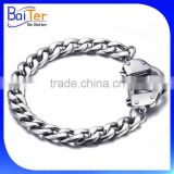 Hotsale Fashion Mens Silver Stainless Steel Handcuff Bracelet Wholesale
