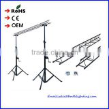 max height 4m light up display stand with winch steel tube light display tripod light stand