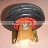 plastic core black rubber industrial caster brass castor N185