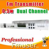 18FSN Dual Channel fm transmitter 0.5w radio station guide