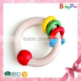 2015 China Hot Sale Promotional Baby Toys Wooden Baby Rattle