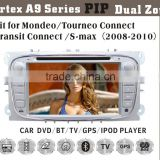 6.2inch HD 1080P BT TV GPS IPOD Fit for ford mondeo/S-max multimedia car radio player gps navigation
