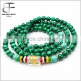 6mm 108 Tibetan Buddhist Natural Malachite Green Turquoise Beads Prayer Mala Meditation Necklace Bracelet