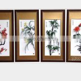 Wuhu iron picture Merlin, bamboo and chrysanthemum Merlin, bamboo and chrysanthemum four gentlemen color