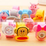 Cute cheap children animal cartoon silicone electronic clap students watch slap watch