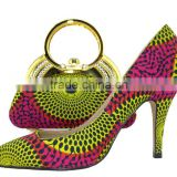 African Wax Printed Fabrics high heel shoes and bags to match women                                                                         Quality Choice