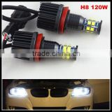 Error free H8 120W LED Angel Eyes for BMW X5 E70 X6 E71 E90 E91 E92 M3 E60 Canbus LED Marker angel eyes bulb lamps