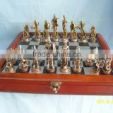 Warrior knight design antique copper metal chess for chess games                                                                         Quality Choice