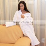 custom hotel spa white jacqurd winter sexy robes