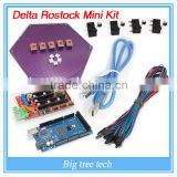 China Wholesale 2016 Delta Rostock mini kit kossel 3d printer kit reprap A4988 +Ramps 1.4+ Mega 2560 and 4Pin wire cable