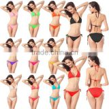 New Bikini sexy lingerie swimsuit underwear and swimwear erotic fun 11 candy colors bikini set free shipping